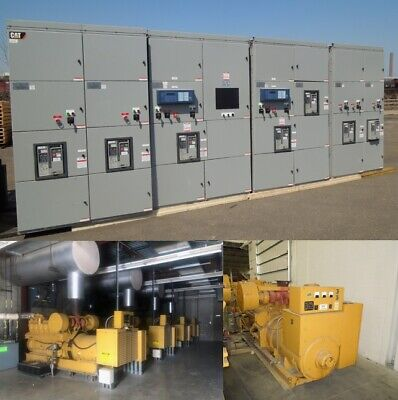 4- 1000kw, 1- 900kw Cat 3512 Generators w/ Paralleling Switchgear 3ph 480Y/277V