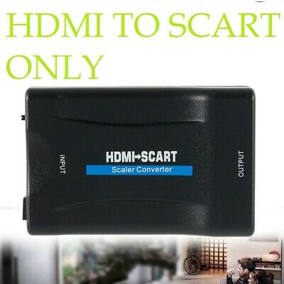 HDMI To SCART Adapter 1080P Video Audio Converter USB Cable HDTV DVD PS3 SkyBox