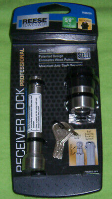 Reese Towpower 7033300 Chrome Class V Bent Pin Style Receiver Lock