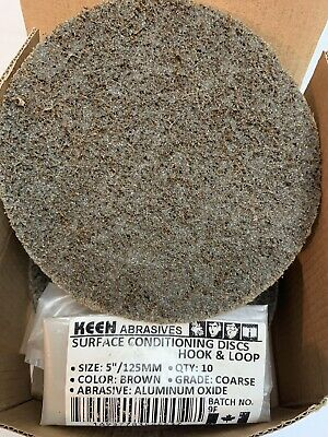 """10- Pack, Coarse 5"""" Hook & Loop Surface Conditioning Disc, KEEN Abrasives #55537"""