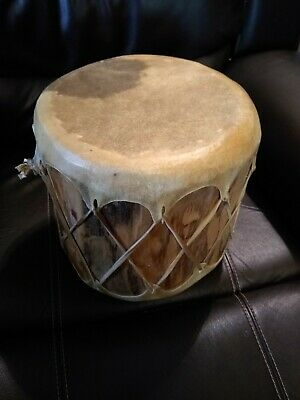 **Awesome Old  Native American Rawhide Drum Double Sided! Great Sound Shaman **