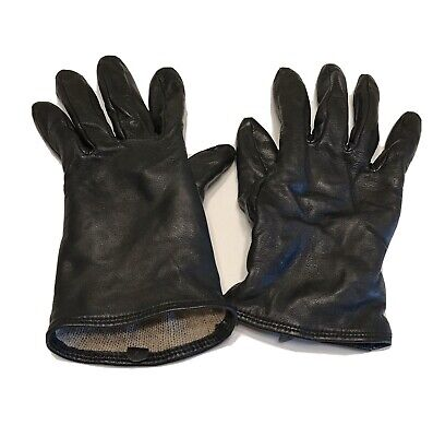 Women's Black Leather Gloves Small Soft Inside Used