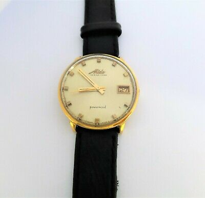 Mido Ocean Star Powerwind automatic date watch gold plated 40 micron case