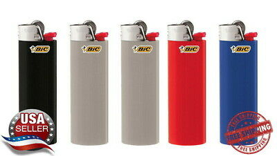 BIC Classic Lighter 5-Pack Assorted Colors From Bulk No Packaging Free Shipping