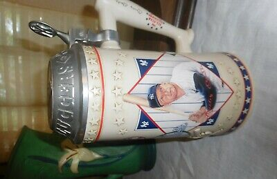~MICKEY MANTLE New York Yankees LIMITED NUMBERED EDITION STEIN BEER MUG!! 🔥🐐