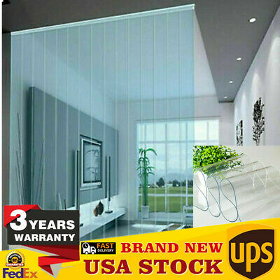 PVC Clear Strip Curtain Door Strip Window Curtains 2m Cooler Freezer Curtain USA