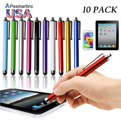 10PCS Universal Touch Screen Stylus Ballpoint Pen for Android iphone iPad Tablet