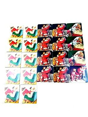 Coca Cola Lot Of 22 Holiday Coasters
