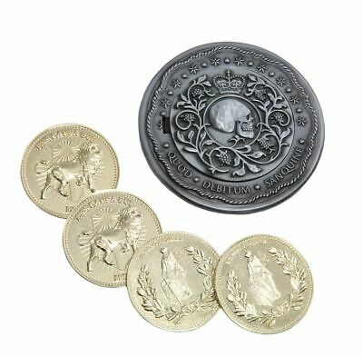 JOHN WICK BLOOD OATH MARKER + 4 CONTINENTAL COINS Prop Replica Set Limited
