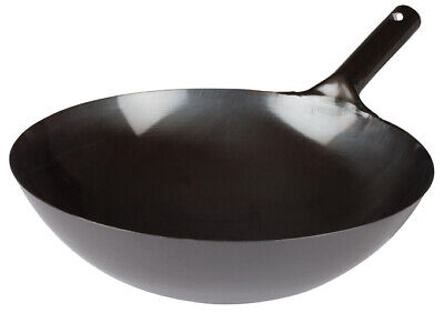 NEW Winco WOK-36, 16-Inch Black Chinese Wok with Integral Handle