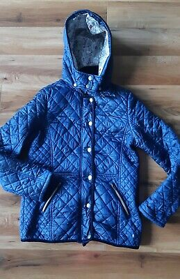 Next Girls Navy Lightweight Quilted Coat Jacket Age 11-12 Years