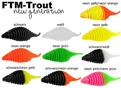 FTM Omura Baits Pongo Junior 45 45mm 4,5cm Krill Schwarz UV Neon Orange 8500232