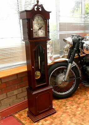 Superb moderately sized classic grandfather clock
