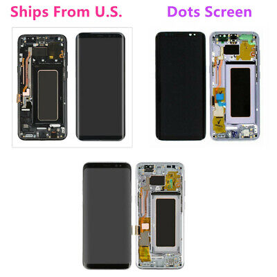 US For Samsung Galaxy S8 Plus G955 LCD Display Touch Screen Glass Digitizer Dots