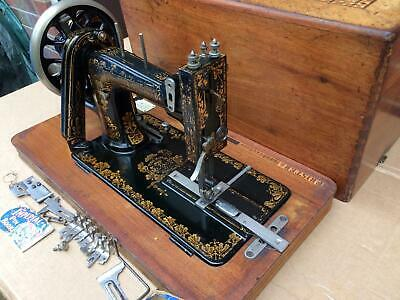 Frister & Rossmann Antique Handcrank Sewing Machine FOR LEATHER