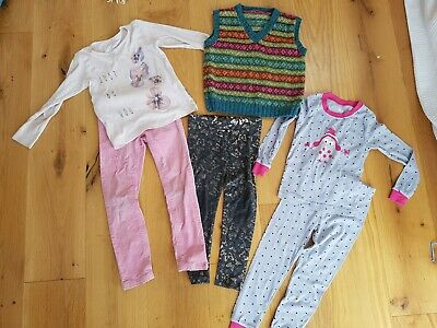 Girls bundle 5-6 Brand New Pajamas Set, Knitted Vest, Jeans, Top