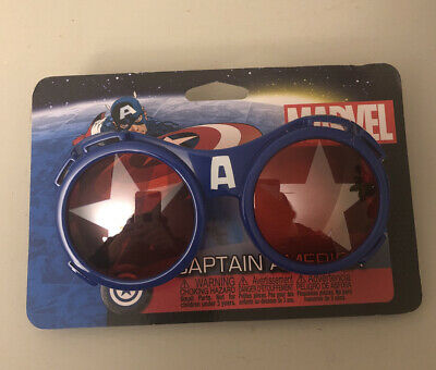 Marvel The Avengers CAPTAIN AMERICA GOGGLES patriotic superhero costume glasses
