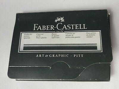 1 BOX OF 10.5 COUNT FABER-CASTELL PITT CHARCOAL 2899-ES (ae)
