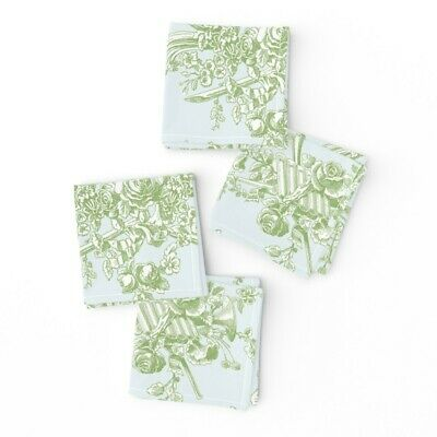 Cocktail Napkins French Vintage Rococo Toile Shabby Chic Cottage Style Set of 4