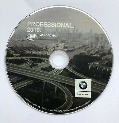 DVD Europe Occidentale GPS BMW Road Map Professionnel 2019