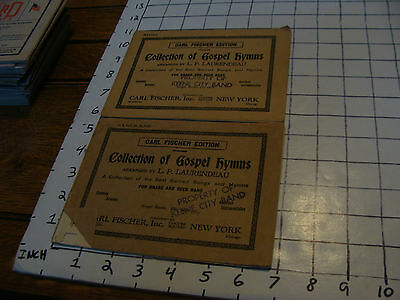 BAND BOOKS: 2 cARL fISCHER collection of Gospel Hymns 8 pages each Basses & alto