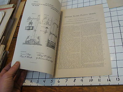 Vintage Early Washing Machine Paper: 1884 patient letterpress printed H W SCOTT