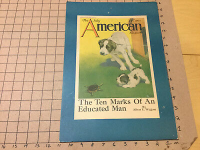orig Point of Purchase Magazine Display 1920's -AMERICAN - DOG puppy COVER 11x16