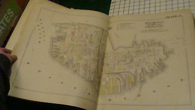 1882 CITY ATLAS of BOSTON g. m. Hopkins Complete, 36 plates, mostly 2 page each