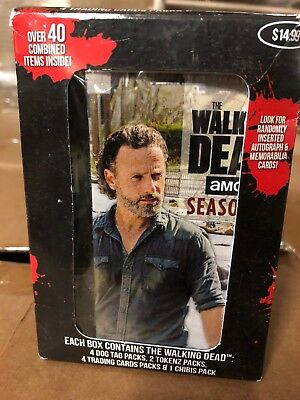 The Walking Dead Collectors Box!  Dog Tags, Trading Cards And Figurines Inside.
