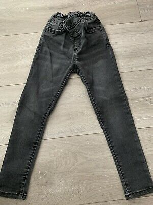Boys Black Faded Jeans Age 4-5 Skinny Fit