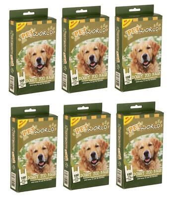 600x Biodegradable Dog Poo Bag Doggy Waste Scented Large Extra Thick