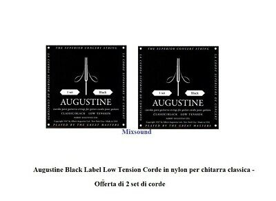 AUGUSTINE BLACK LOW Tension 2  due SET MUTE CORDE NYLON PER CHITARRA CLASSICA