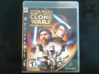 Star Wars: The Clone Wars - Republic Heroes PS3 Complete, Tested, Adult Owned.
