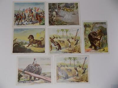 Lot of 7 Victorian McLaughlin's Coffee Advertising Litho Trade Cards Africa