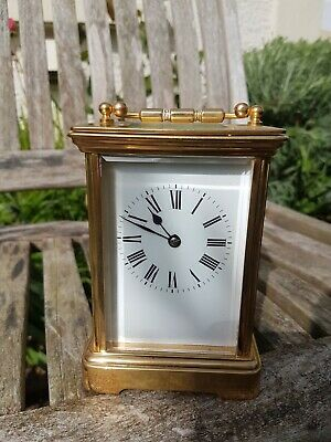19 Century French Brass Carriage Clock with Repeater