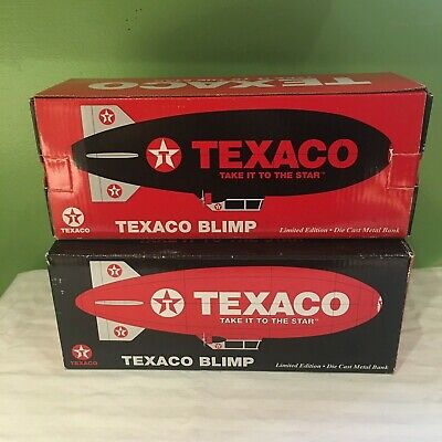 Texaco Blimp Set  Red Blimp  & Black Blimp Diecast Limited Edition Ships Free