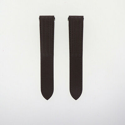 NEW Authentic OEM Cartier Roadster 20mm x 18mm Dk Brown Leather Watch Band Strap