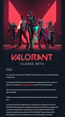Valorant Account EU closed-beta access Instant delivery FULL ACCESS
