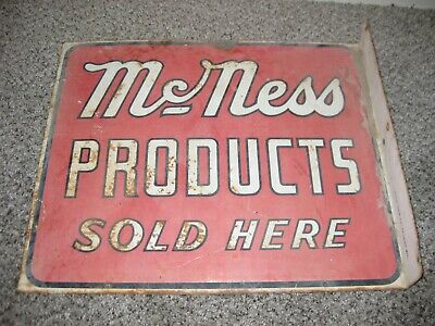 McNess Products Sold Here Vintage Stout sign  two-sided sidewalk sign steel old