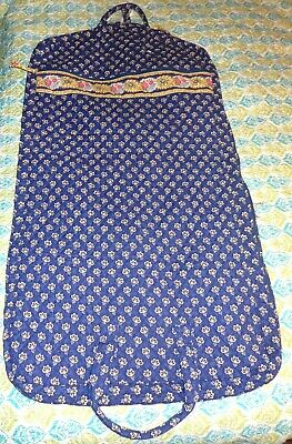 Vera Bradley Maison Blue Garment Bag Clothes Storage Travel Carry On Luggage