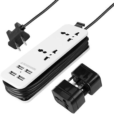 POWERGENCE Portable Travel Adapter Power Strip Charging Station