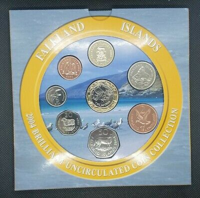 2004 Falkland Islands Uncirculated Coin Set   RARE   Royal Mint Issued