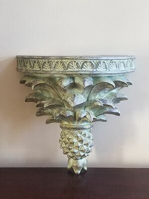 Ornate Green Patina Finish Poly Resin Decorative Wall Sconce Shelf 10""