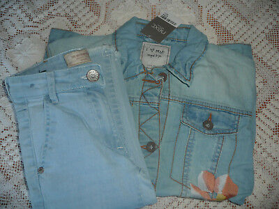BNWT Next Girls Denim Jacket c/w Ankle Length Jeans/ Set/ Outfit/ Bundle/ Age 8