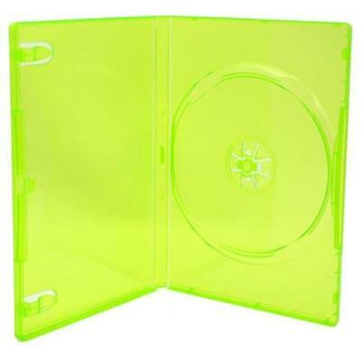 1-Disc (Single) Translucent (Clear) Green DVD Case