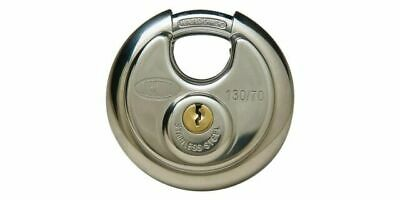 Lockwood 70mm Stainless Steel Cylindrical High Security Padlock 130/70/120/NDP