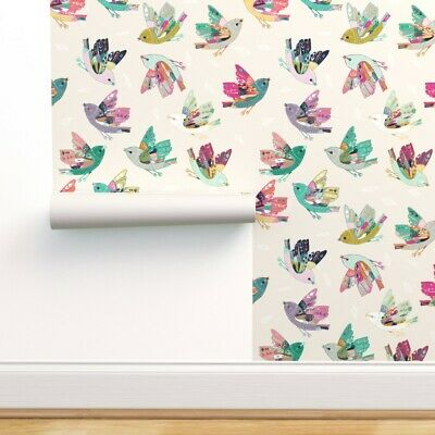 Wallpaper Roll Moon Blue And White Navy Moth Night Garden Butterfly 24in x 27ft