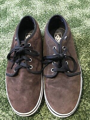 Vans Off The Wall Mens Brown Suede Leather Lace Up  Trainer Size 11
