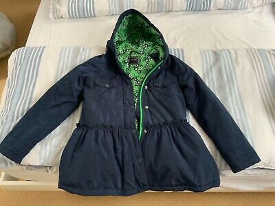 New Next Girl Lined Blue Jacket size 11 yrs