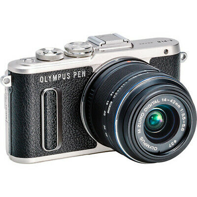 Olympus PEN E-PL8 Mirrorless Camera in Black with 14-42 mm R Lens